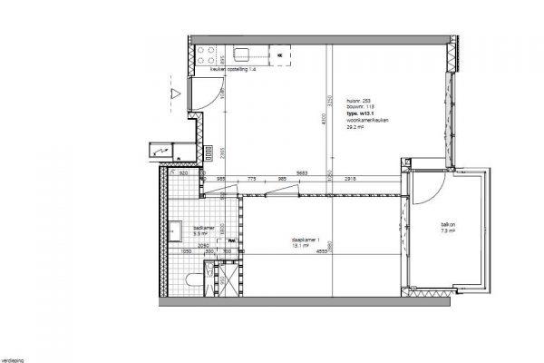 Fase 3 12 corridor tweekamerwoningen 1