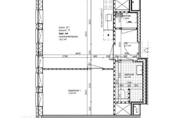 Fase 3 Corridor tweekamerwoningen 1