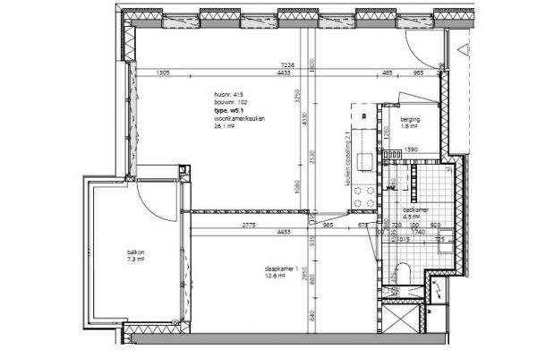 Fase 3 Corridor tweekamerwoningen 2
