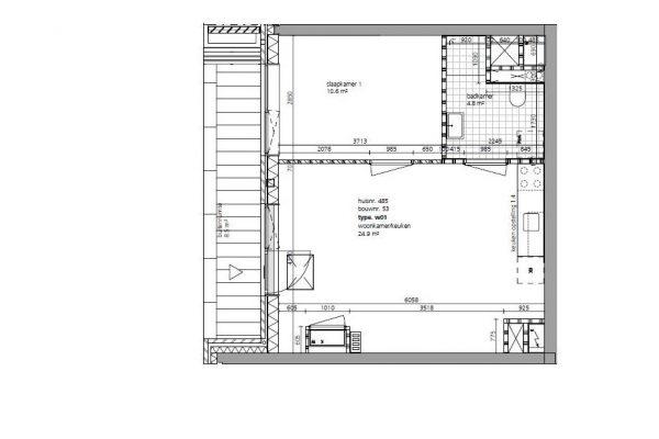 Fase 3 tweekamerwoning begane grond met eigen opgang 1